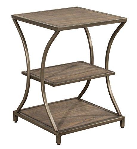 - Hillsdale 4728-880 Crofton End Table, 24 x 17.5 x 17.5, Brown/Gray