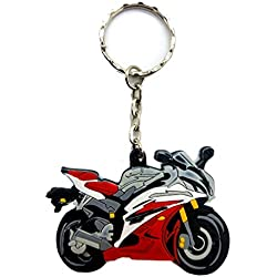 Rubber Motorcycle Key Holder Chain Fob Rings For Yamaha YZF R6