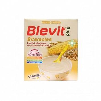 Blevit - Papilla 8 Cereales Blevit Plus 600 gr 5m+: Amazon ...