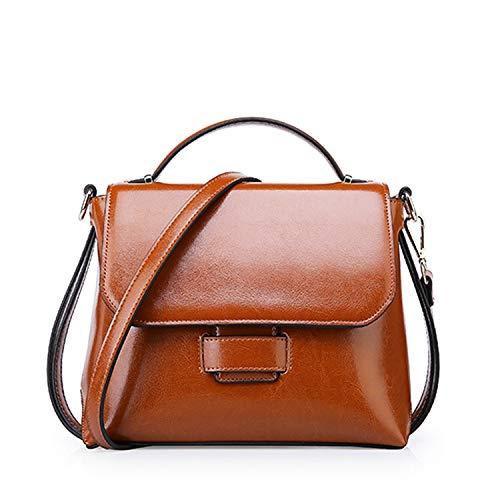 2b43831983e6 Chibi-store Fashion Genuine Leather Bags Women Real Leather Handbag  Shoulder Bags,Brown,size 27x22x12cm