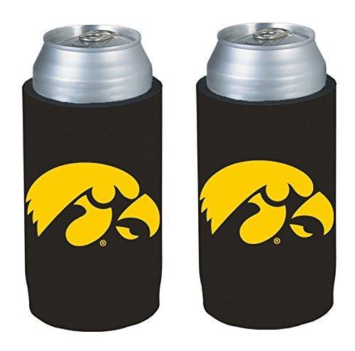 - NCAA 2013 College Ultra Slim Beer Can Holder Koozie 2-Pack (Iowa Hawkeyes)