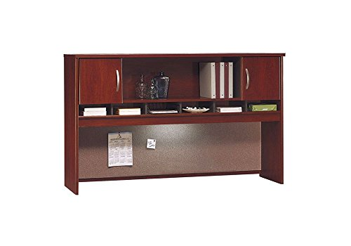 72'' Two Door Hutch Dimensions: 71.25''W x 15.25''D x 43.25''H Weight: 178 lbs Mahogany by Bush Business Furniture