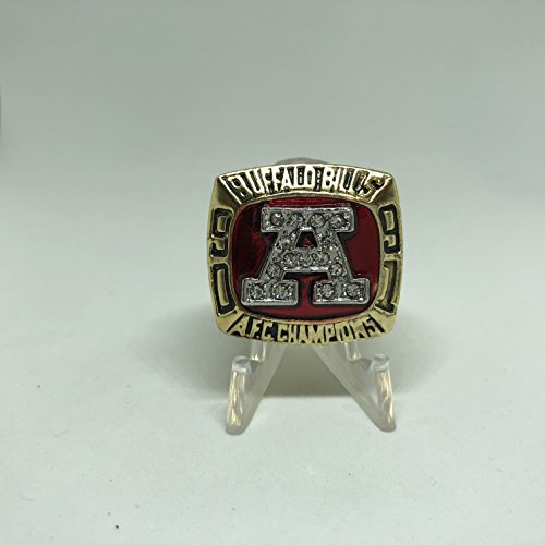 1990-91 Jim Kelly Buffalo Bills High Quality Replica 1991 AFC Championship Ring-Gold Color Size 11 US SHIPPING