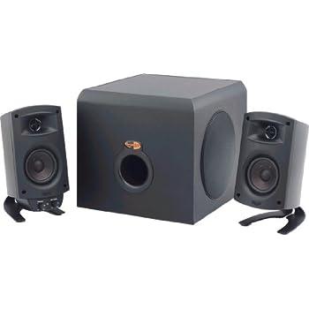 klipsch 5 speaker system. klipsch promedia 2.1 thx certified computer speaker system (black) 5 l