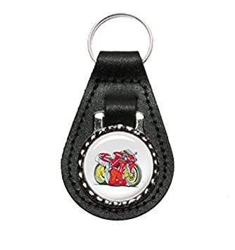 Kr Ka1397 Koolart Gifts Cartoon Of Ducati 996 Motorbike Keyring