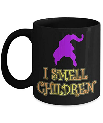 I Smell Children Funny Witch Halloween Day Mug Coffee Cup TeaMugs Gift, hocus pocus, quote, mary sanderson, trick or treat, quotes, funny mom, -