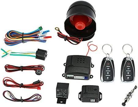 Kkmoon Auto Alarmanlage Schutz Universal Diebstahlsicherung Sicherheitssystem Mit 2 Fernbedienung Hupe Schlüssel Auto