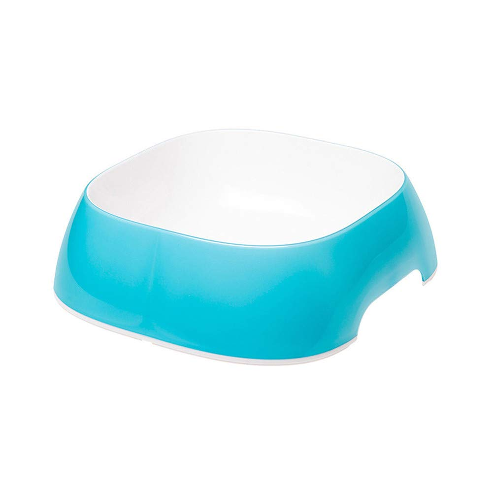 bluee WU-pet supplies Pet Dog Bowl Dog Pot Single and Double Bowl cat Bowl cat Food Bowl Drinking Basin Anti-Skid Bowl, bluee