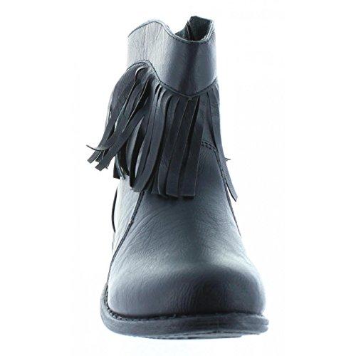 Black Femme Urban Bottines Pour B092460 b6600 RXZqBw
