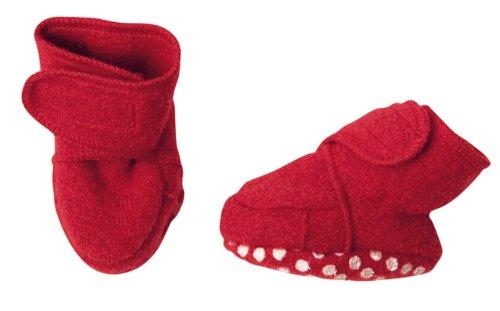 Walk-zapatos de lana virgen kbT Disana azul marine Talla:S Rojo