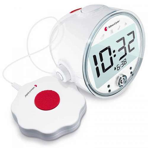 Alarm Clock Visit with LED Flashing Lights & Built-in Receiver by Harris Communications