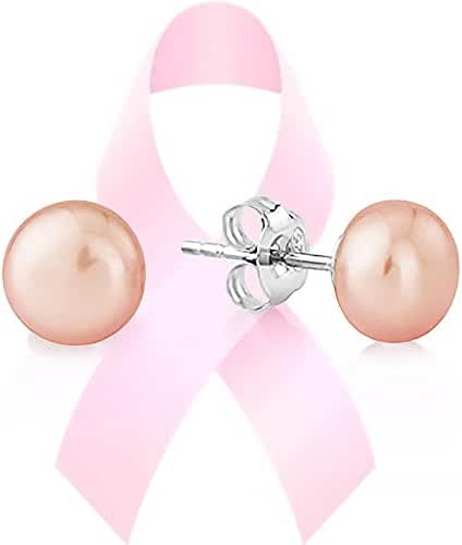 PAVOI Pink - Peach Pearls National Breast Cancer Awareness Foundation - Freshwater Cultured AAA+ Quality
