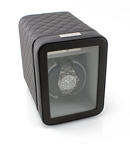 - [Sale] Heiden Monaco Single Watch Winder - Black Leather - Battery Powered or AC Adapter