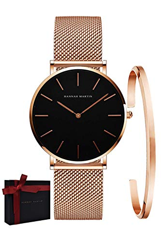 Valentines Gifts Women's Analog Quartz Rose Gold Watch with Stainless...