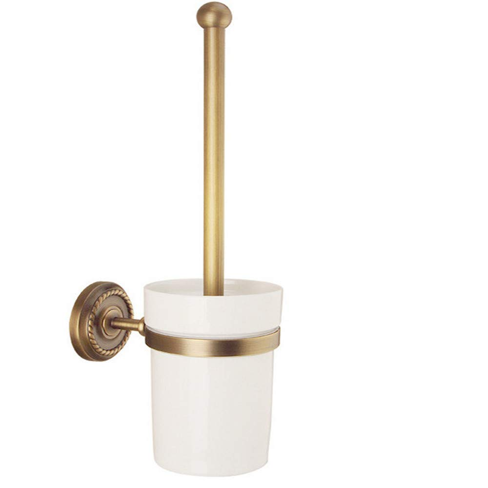 Toilettenbürstenständer Toilettenbürstenständer Europäische Antik Kupfer Toilettenbürstengarnitur WC-Tasse