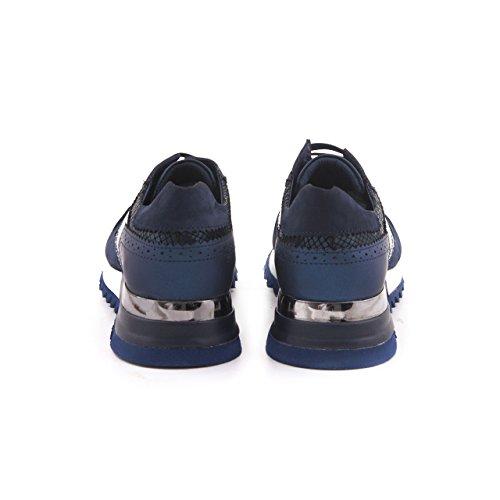 Mocassini Uomo In Vera Pelle Designer Sneaker Sportivo Sportivo Scarpa In Pelle Tutti I Giorni Blu Marino