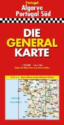 Die Generalkarte Algarve-Portugal Süd 1:200 000 (Englisch) Taschenbuch – 2006 GENERALKARTEN Mair MAIRDUMONT Ostfildern 3895255777
