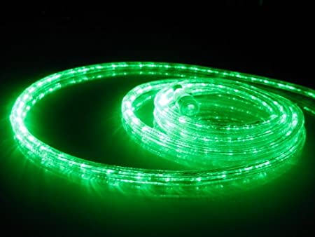 Amazon 18ft rope lights emerald green led rope light kit 10 amazon 18ft rope lights emerald green led rope light kit 10 led spacing christmas lighting outdoor rope lighting home kitchen aloadofball Image collections