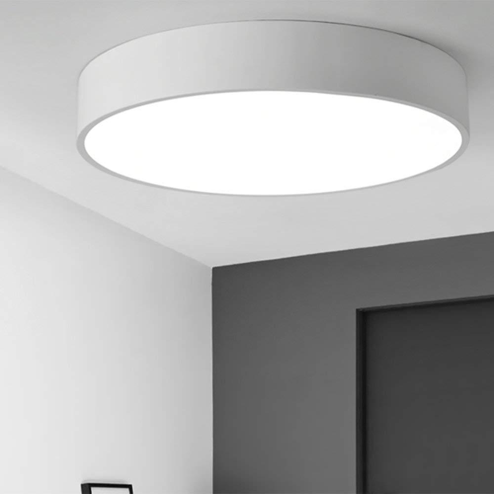 FXING Versprechen dimmen Riemen Fernbedienung LED-runde Deckenleuchte Moderne, einfache kreative Persönlichkeit für Arbeitszimmer, Wohnzimmer, Schlafzimmer, Eingang (Farbe  Weiß Weiß-light-25  9 c