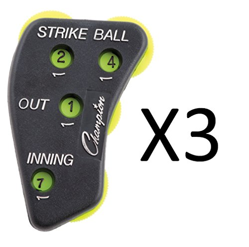 Umpire Indicator (Champion Sports 4 Dial Score Keeper Baseball Softball Umpire Indicator (3-Pack))
