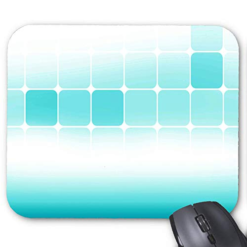 Green White Plaid Clip Art Mouse Pad 9.8