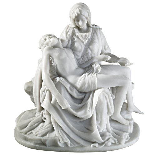 Design Toscano The Pieta (1499) Bonded Marble Medium Statue by Design Toscano