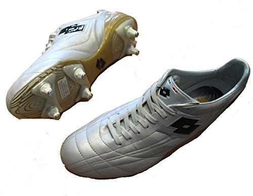 Lotto Zhero leggenda sg zapatos tacos, para hombre, blanco/oro Blanco