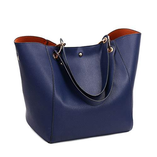 Bolsos Azul Carteras y clutches bandolera Shoppers y de bolsos hombro DEERWORD Mujer de mano gYqwpp