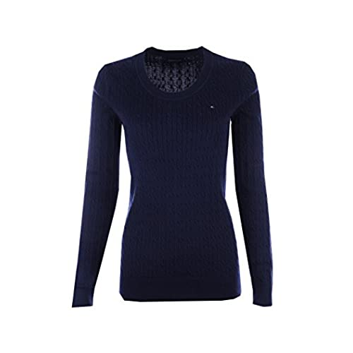 Navy Blue Cable Knit Sweater: Amazon.com