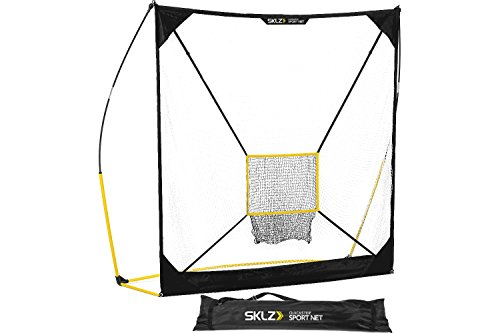 - SKLZ Quickster Baseball Hitting Net with Removable Pitching Target, Ultra Durable and Portable Sport Practice Net for Baseball and Softball (7-feet by 7-feet)