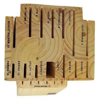 (Ronco KN3005BLGEN Six Star+ 20-Slot Wooden Knife Block Holder)