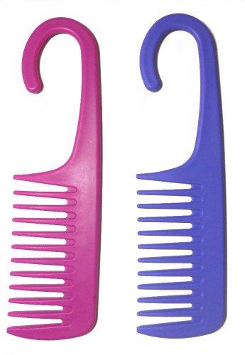 Широкий зуба Detanglng / Кондиционер Душ Comb ж / Крючок для подвешивания (1 Comb- ASst. Цветов)