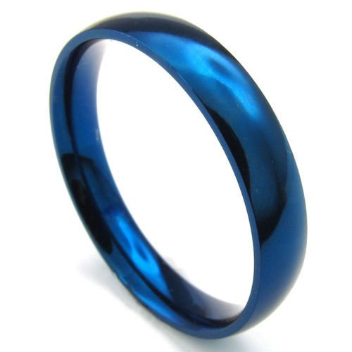 Aooaz Men's Ring Stainless Steel Ring Blue Tone Plain 4mm Size US 6 13 Vintage Retro Gothic Punk Rock (Ghosts Italian Style Dvd compare prices)