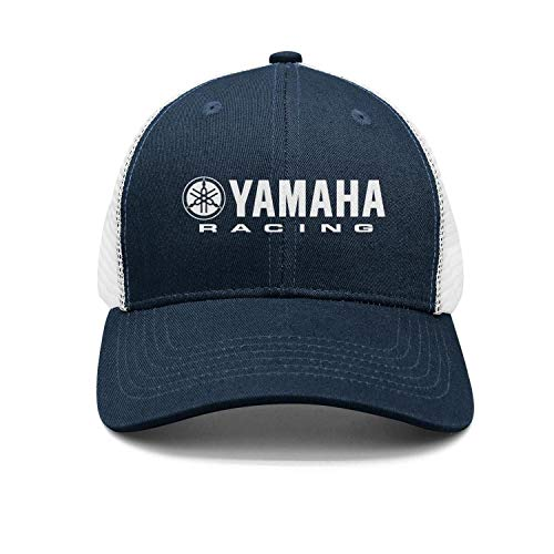 Men/Womens Yamaha-Racing-Logo- Flat-Along Adjustable Peaked Cap Classic Baseball Hat