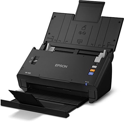 Epson WorkForce DS-520  DIN A4 Dokumentenscanner (600 DPI, USB 2.0, Beidseitiges Scannen in einem Durchgang) schwarz