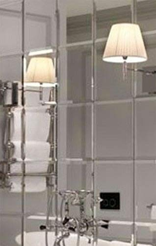 My-Furniture 6X Grosse Fliesen 30 x 30 - Wandfliesen aus Glas abgeschraegt-  Fuer Badezimmer Oder Kueche