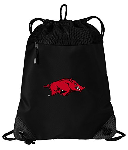 Arkansas Razorbacks Drawstring Bag University of Arkansas Cinch Pack Backpack Unique MESH & Microfiber ()