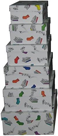 Vilys House Cajas cartón Decoradas con Dibujos de Mis Cosas. Set de 6 tamaños Distintos: Amazon.es: Hogar
