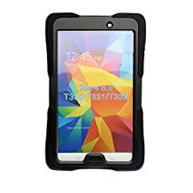 Samsung Galaxy Tab 4 8.0 Case-Heavy Duty Rugged Impact Dual Layer Hybrid Full Protective Cover with Built-in Kickstand Protective Screen Protector and Impact Resistant Bumper Case Cover for Samsung Galaxy Tab 4 8 Inch T330/t331/t335 Tablet Case Cover