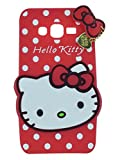 Mokons Cute Hello Kitty Silicone Mobile Phone Back Cover Case for Samsung Galaxy A7 (2016) (Red)