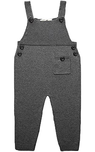 Kids Baby Toddler Girl Knit Romper Cotton Jumpsuit Outfits 18-24 Months, Gray, 18-24 Months ()