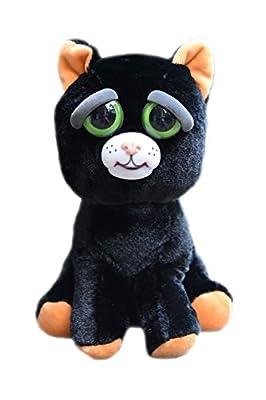 William Mark Feisty Pet Black Cat: Katy Cobweb Stuffed Attitude Plush Animal from William Mark