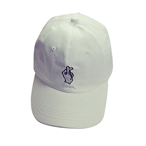 [YIWULA Adult Fashion Caps Baseball Adjustable Caps (white)] (Hip Hop Felt Hat With Feather)