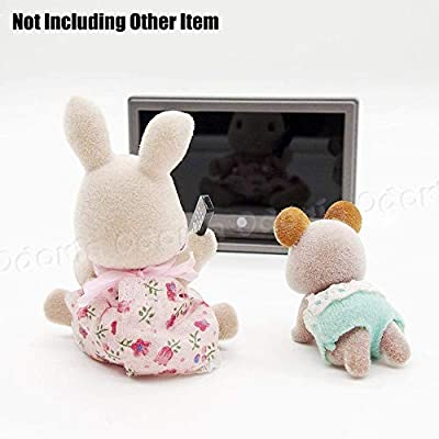 Odoria 1:12 Miniature TV Television with Remote Control Dollhouse Decoration Accessories: Toys & Games
