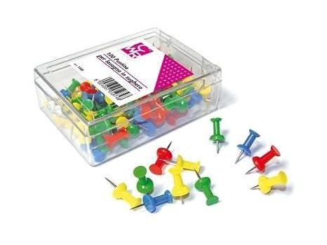bc5824a4ac SCATOLA 100 PUNTINE COLORATE PER BACHECA: Amazon.it: Giochi e giocattoli