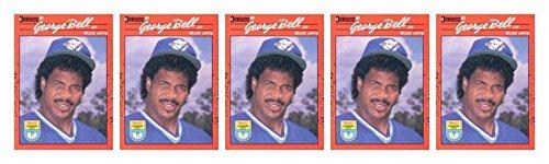 (5) 1990 Donruss Learning Series #25 George Bell Baseball Card Lot Blue Jays