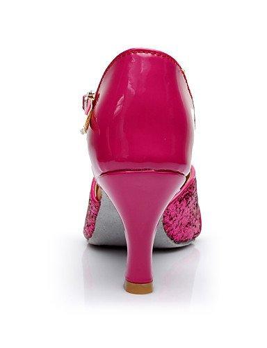 ShangYi Schuh Maßfertigung - Maßgefertigter Absatz - Satin / / / Pailletten - Lateintanz / Salsa / Samba - Damen fuchsia 17626d
