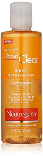 Neutrogena Rapid Clear 2-In-1 Fight & Fade Acne Toner, 8 Fl. Oz. (Pack of 2)