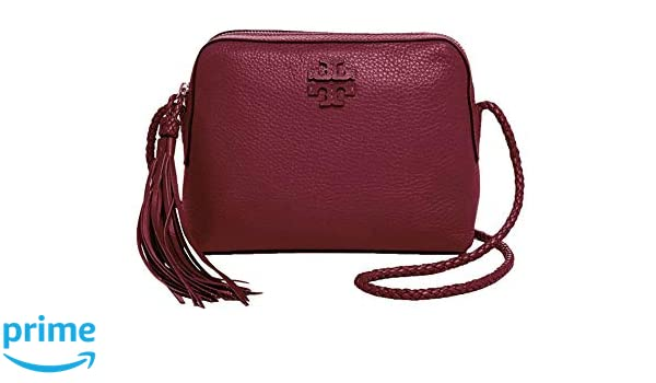 5fdcef226500 Tory Burch Women s Leather Taylor Camera Crossbody Bags Handbag 52715  (Imperial Garnet)  Handbags  Amazon.com