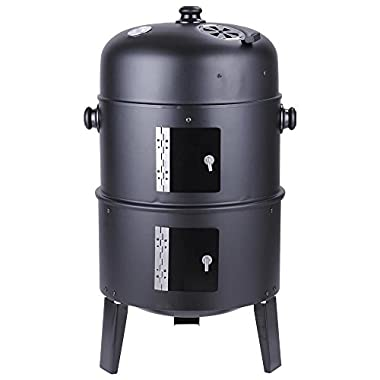 Triprel Inc. Patio Smoker Grill BBQ Backyard Firepit Charcoal Cooker Meat Grilling Roasting